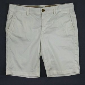 Banana Republic Women Shorts White Stretch